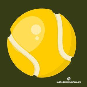 Tennis ball vector icon