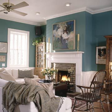 "Don't forget about the ""fifth"" wall! Add excitement and drama to any room by painting your ceilings with these color ideas."