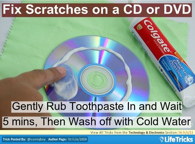 Fix CD and DVD Scratches With Toothpaste