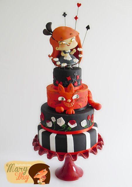 Queen of Heart wedding cake - MaryWay