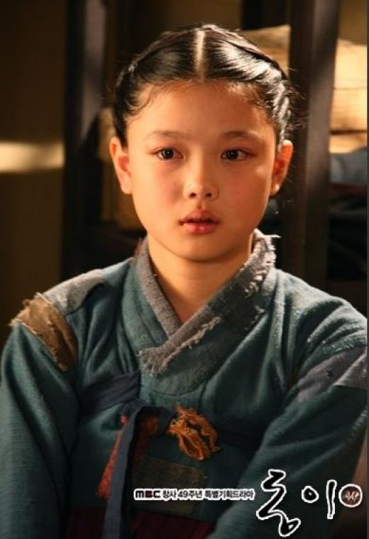 #DongYi (2010) #Kdrama ♥ Kim Yoo-jung as young Dong-yi, totally ♥ her ! Korean #CostumeDrama
