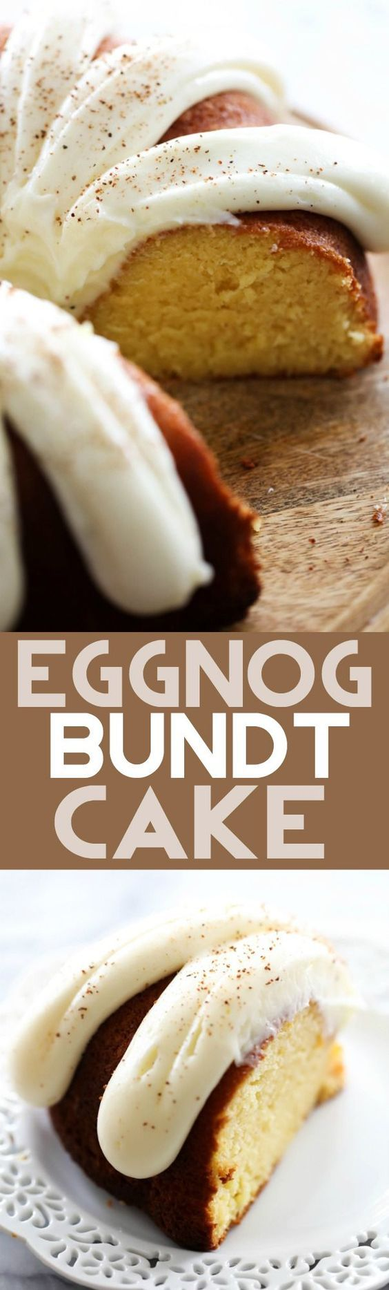 This Eggnog Bundt Cake is perfect for the holidays! This cake is moist and simple. It will be one dessert you want to make over and over again!