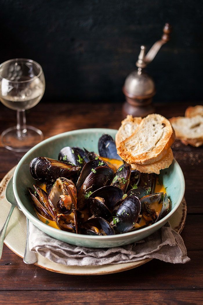 quick and easy red curry mussels /