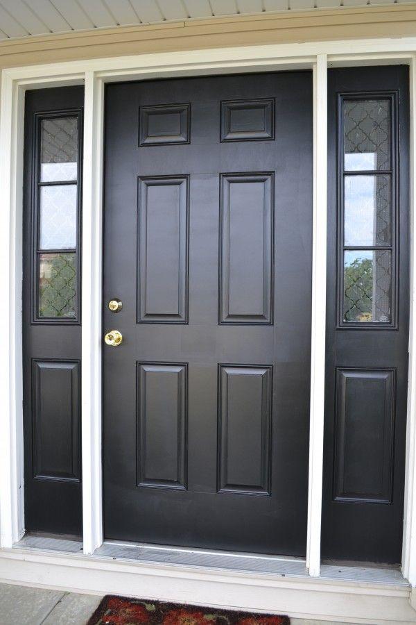 Black Door & Front Door Paint With Modern Masters