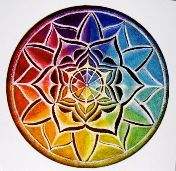 color wheel mandala. This is probably the only watercolor tattoo I would consider
