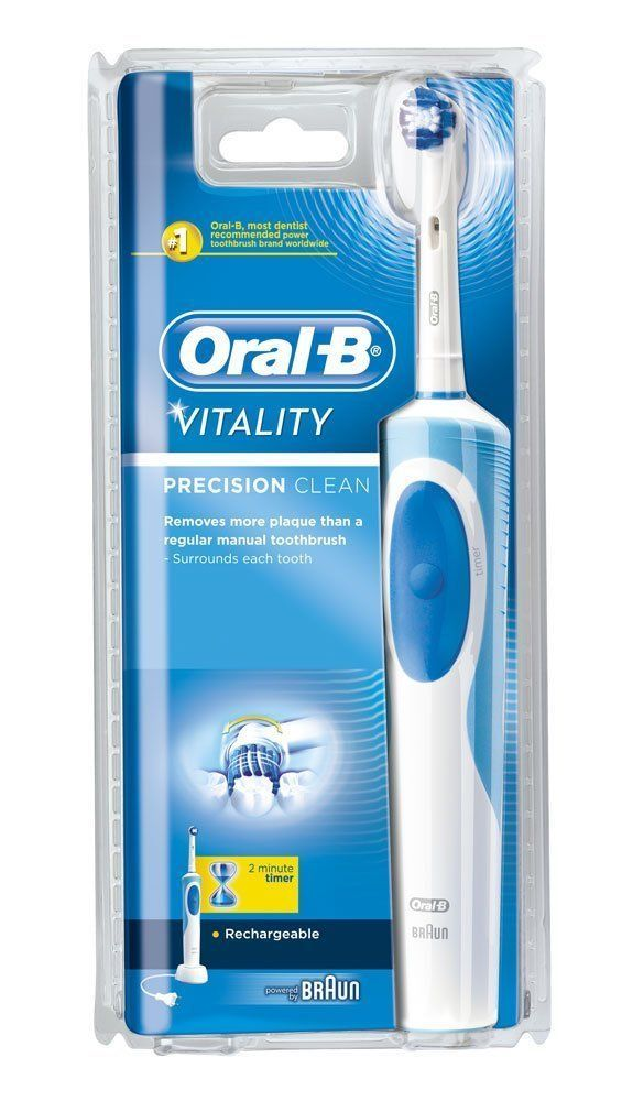 Oral B Braun Vitality Precision Clean Electric Toothbrush Rechargeable - New