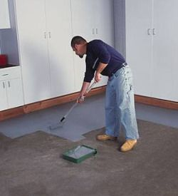 how to paint concrete floors: Paintings Concrete Floors, Floors Paintings, Parties Rooms, Laundry Rooms, Back Porches, Finish Concrete, Patio Redo, Maybe Someday, Paintings Floors