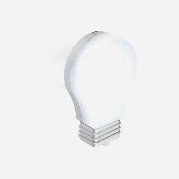 Bicyle: Charly - White Tail Light - Light Bulb Shape