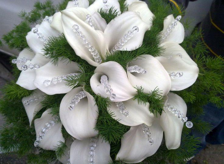 bouquet sposa con #calle e #swarovski
