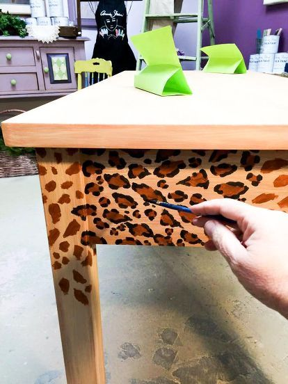 how to create a fabulous hand painted leopard print finish, how to, painted furniture