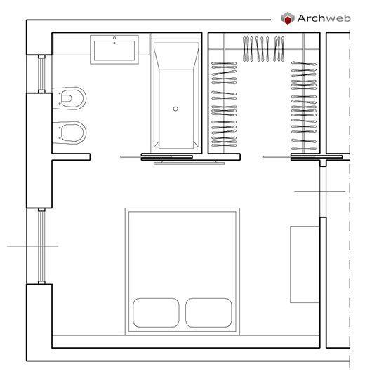 Oltre 25 fantastiche idee su piante da bagno su pinterest - Progetto camera da letto con cabina armadio ...