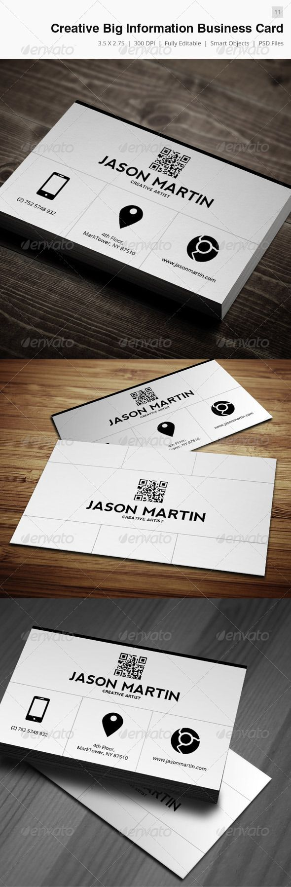 648 best cool business cards images on pinterest business card big information business card 11 reheart Images