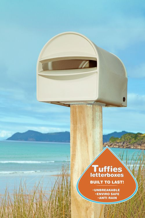 Tuffies #Letterboxes are great for any area - such as coastal areas, as they will not rust, rot, fade or break!  Plus - our letterboxes take A4 size mail & have an anti leak gutter to help keep your mail  dry!