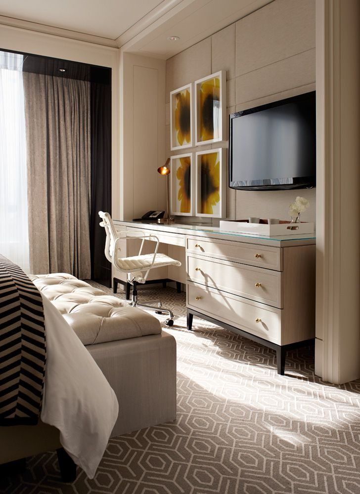 Love the pale muted tone & the almost molded walls... Suites At The Ritz Carlton | Munge Leung