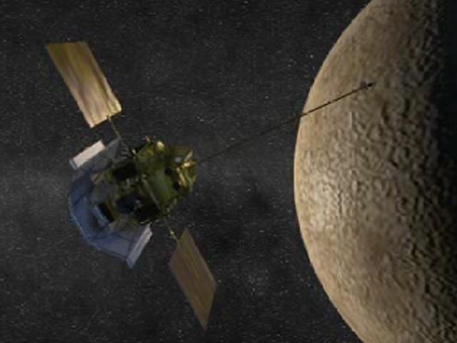 Mercury Orbit Insertion (Artist's Concept) #nasa