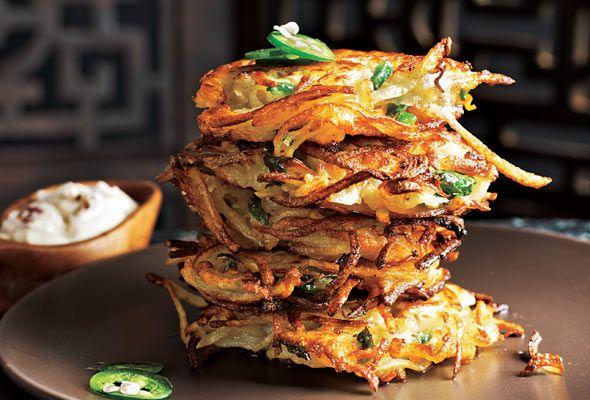 Cilantro Jalapeno Latkes Recipe | Leite's Culinaria