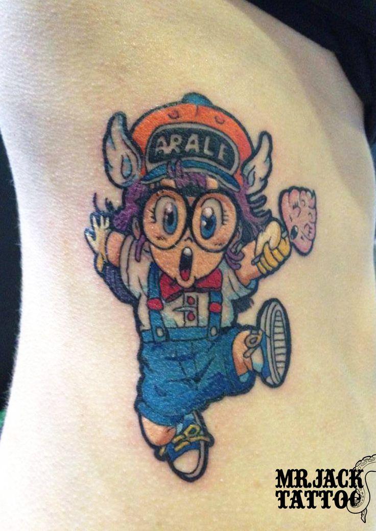 #arale #aralenorimaki #japanesecartoon #cartonegiapponese #starcomics #tatuaggi #tattoo #mrjack #mrjacktattoo #color #arte #artist #colortattoo #bodyart #mrjacktattoofamily #cartoneanimato #cartoon #cartoontattoo