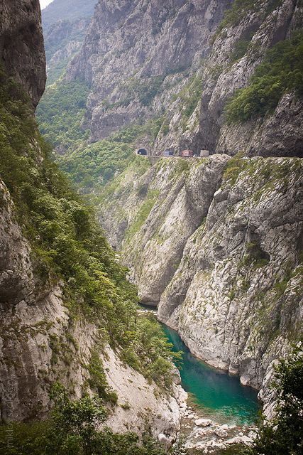Montenegro. Driving along the Podgorica–Kolašin road through the Morača Canyon, in particular, is often a white-knuckle ride with countless cliff-side bends and tunnels, but the beauty and power of the landscape are such that you find you're in no hurry to reach your destination.' http://www.lonelyplanet.com/montenegro