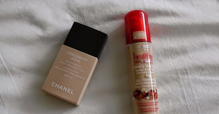 Drugstore vs High End ~ Bourjois Healthy Mix Serum vs Chanel Vitalumiere Aqua / Reflection of Sanity