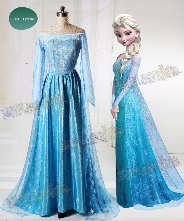 fanplusfriend - Frozen (Disney Movie) Cosplay Elsa Costume Outfit, $130.00 (http://www.fanplusfriend.com/frozen-disney-movie-cosplay-elsa-costume-outfit/)