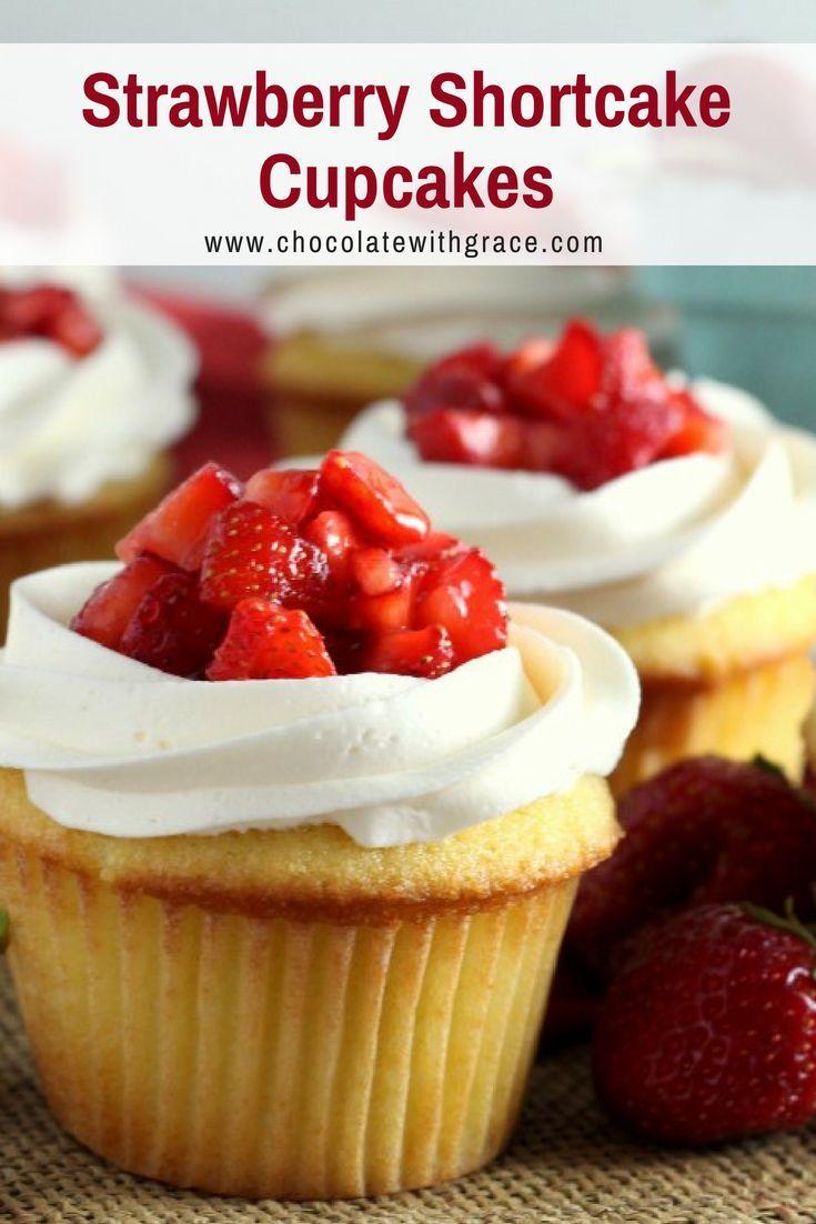 cupcakes de tarta de fresa   – Desserts for Parties