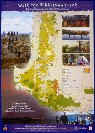 New Poster Map   Bibbulmun Track