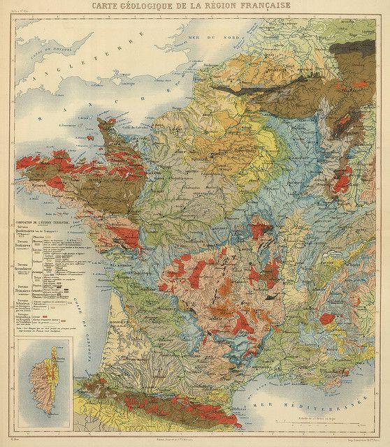 Carte Géologique de la Région Française, 1882 | Flickr: partage de photos!