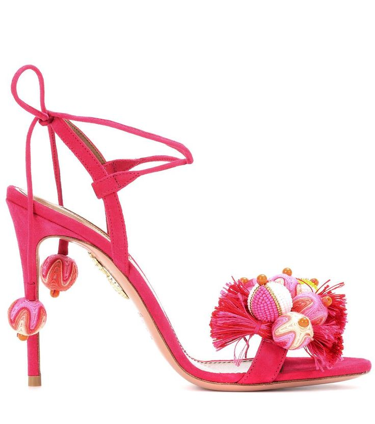 Aquazzura - Tropicana 105 suede sandals | mytheresa.com