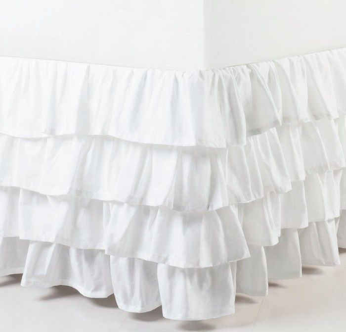 Our gorgeous white-wash ruffle valance is made from crisp, pure cotton and will add a feminine touch to your bedroom.