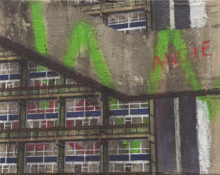 Angie II 2012 David Hepher Acrylic & Mixed Media on Canvas 37 x 47cm