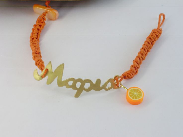 Bracelet with name from brass