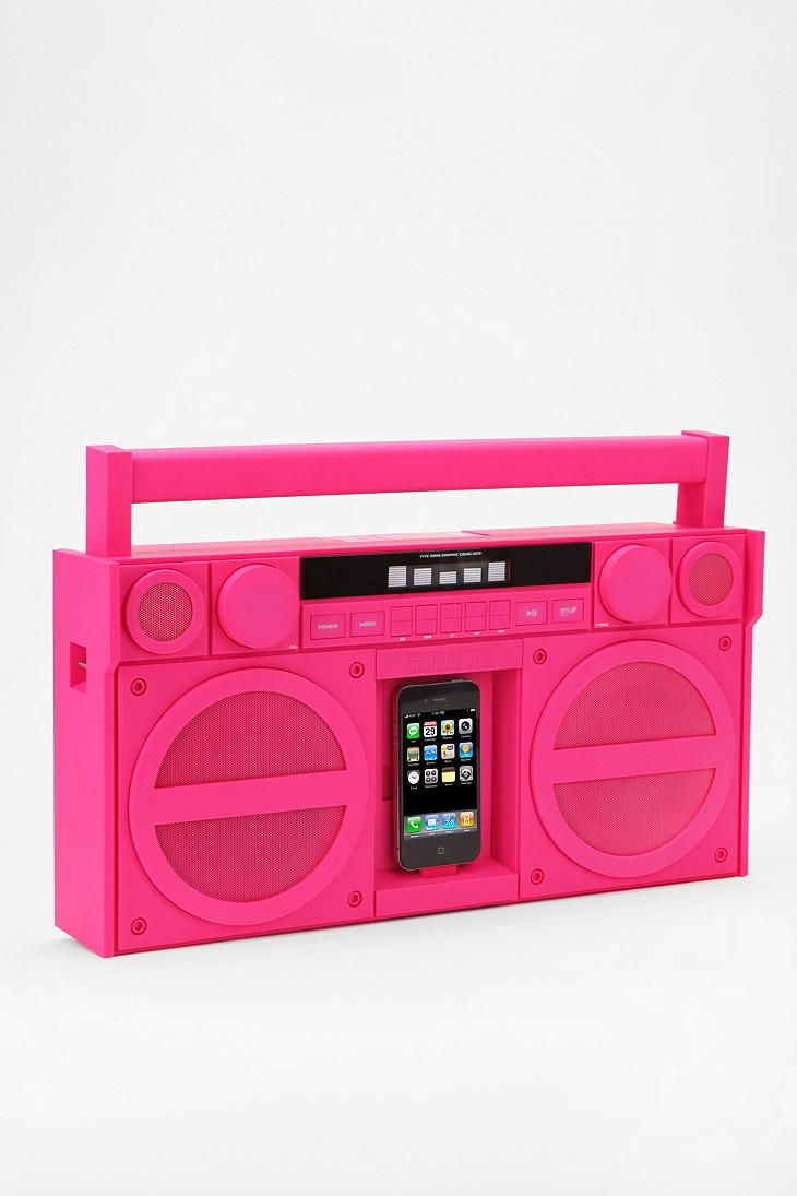 i want i want i wantOld Schools, Dock System, Urban Outfitters, Ipodiphon Dock, Ipods Iphone Dock, Ihome Ipods Iphone, Pink, Boom Boxes, Boombox