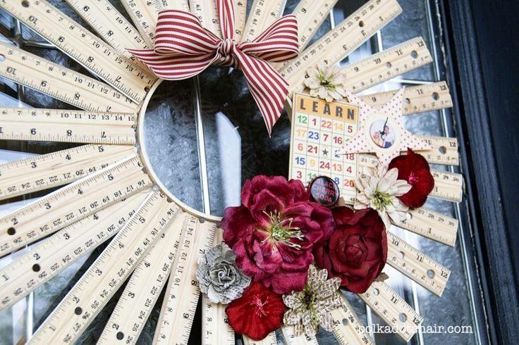 DIY Ruler Wreath