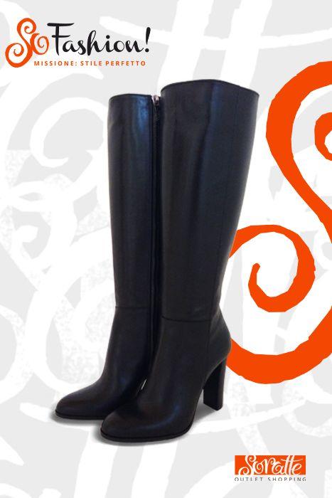 Stivale in pelle con tacco BALDININI, Prezzo retail €419 - Prezzo outlet €259.