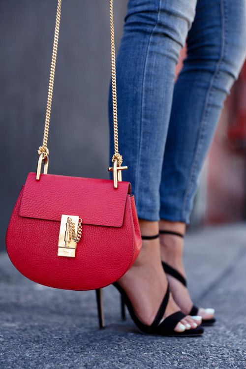 Red and Gold--- such big statement from a small bold purse!!
