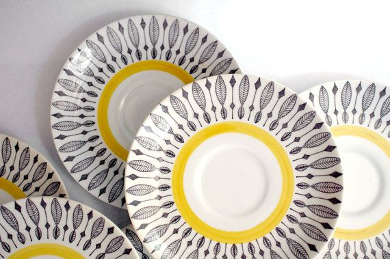 Mid Century Scandinavian Saucers // by RankandFileVintage on Etsy