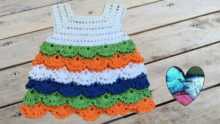 Bello vestido  tejido a crochet todas las tallas / Robe crochet toutes l...