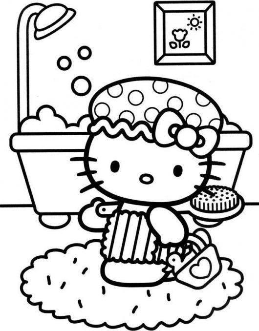hello kitty coloring pages birthday - photo#23