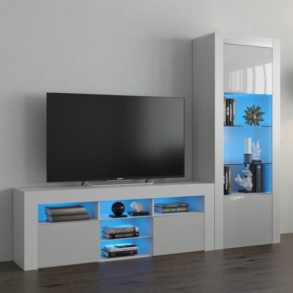 Earle Entertainment Center For Tvs Up To 65 Modern Wall Units Wall Unit Entertainment Center