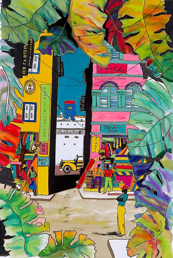 Downtown Caribbean Artwork ~ Marjolein Scott