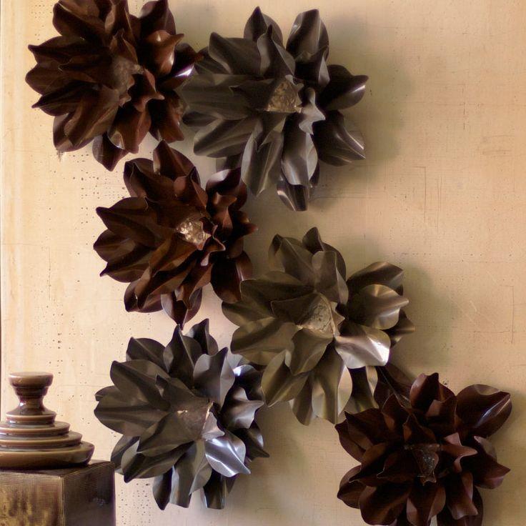 best 25 metal flower wall art ideas on pinterest metal flower wall decor metal wall flowers. Black Bedroom Furniture Sets. Home Design Ideas