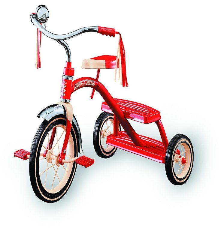 Radio Flyer, Classic Red Dual Deck Tricycle Dreirad im Retro-Look Kinderfahrzeuge   Art-Nr: 33 / EAN:0042385956503