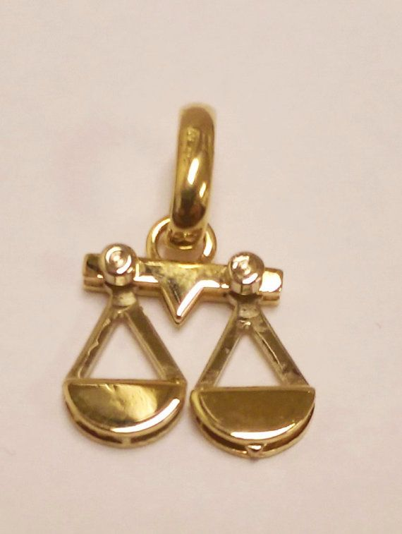 We would like to introduce to you a lovable #Libra #Zodiac #pendant made by Sauro. Details:  Libra Zodiac Pendant Movement of scales 18K Yellow Gold 1.35 dwt, 2.11 grams Birth-dates: September 23rd to October 23rd $200