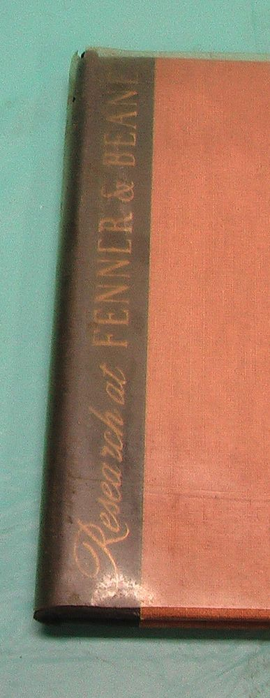 1940's Fenner & Bean Merrill Lynch New Orleans LA Research Cloth Folder Vintage