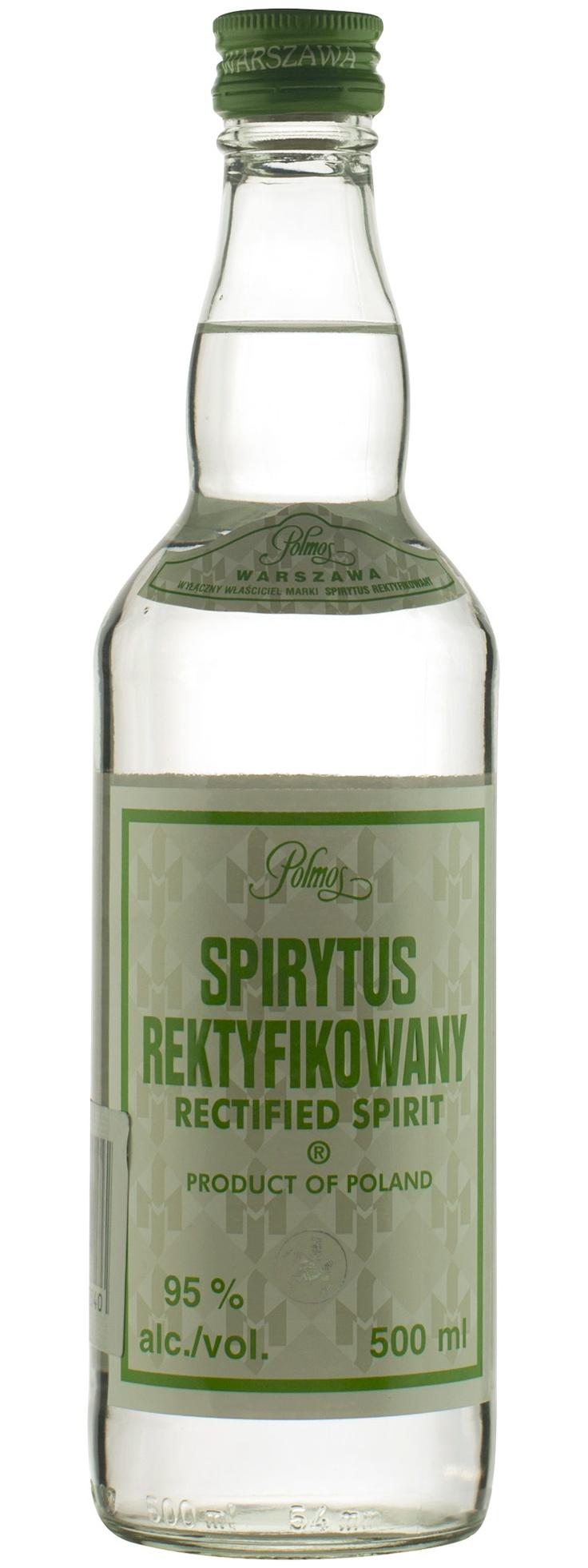 Spirytus: Rictified Spirit 95%; 192 Proof.