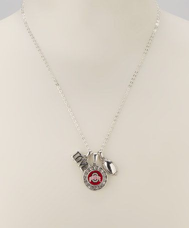 Take a look at this Silver Ohio State Football Charm Necklace by From the Heart on #zulily today!