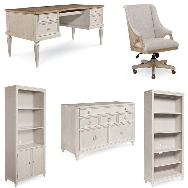 ART Furniture - Roseline 5 Piece Brown Nora Executive Desk Set - 248821-2340-5SET