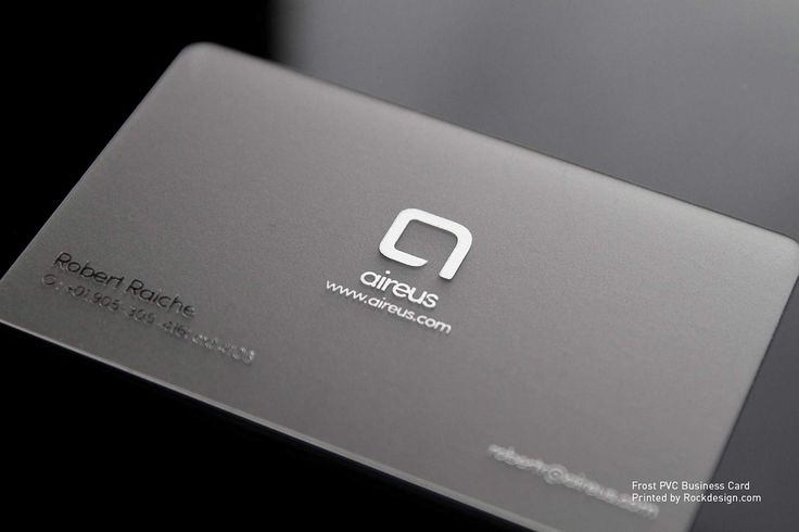 Frost PVC Business Cards | RockDesign