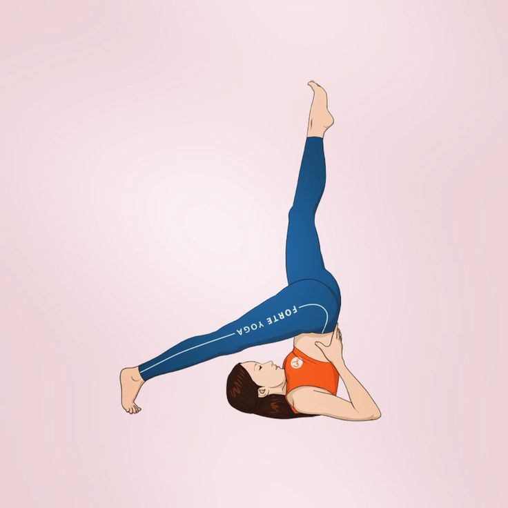 Forte Yoga Friday Inversion: One Leg Supported Shoulderstand / Eka Pada Salamba Sarvangasana   #FYFridayInversion   Learn about the pose here: www.forteyoga.com/yoga-poses/one-leg-supported-shoulderstand-yoga-pose/
