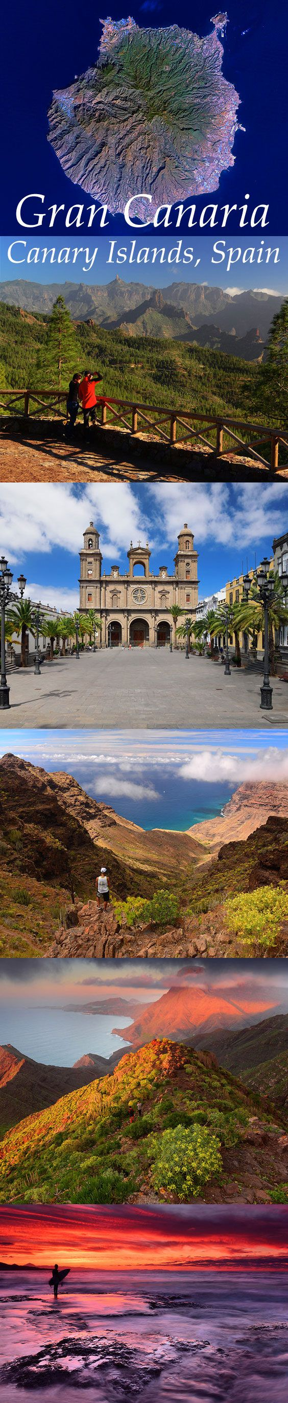 The different landscapes of Gran Canaria, Canary Islands, Spain